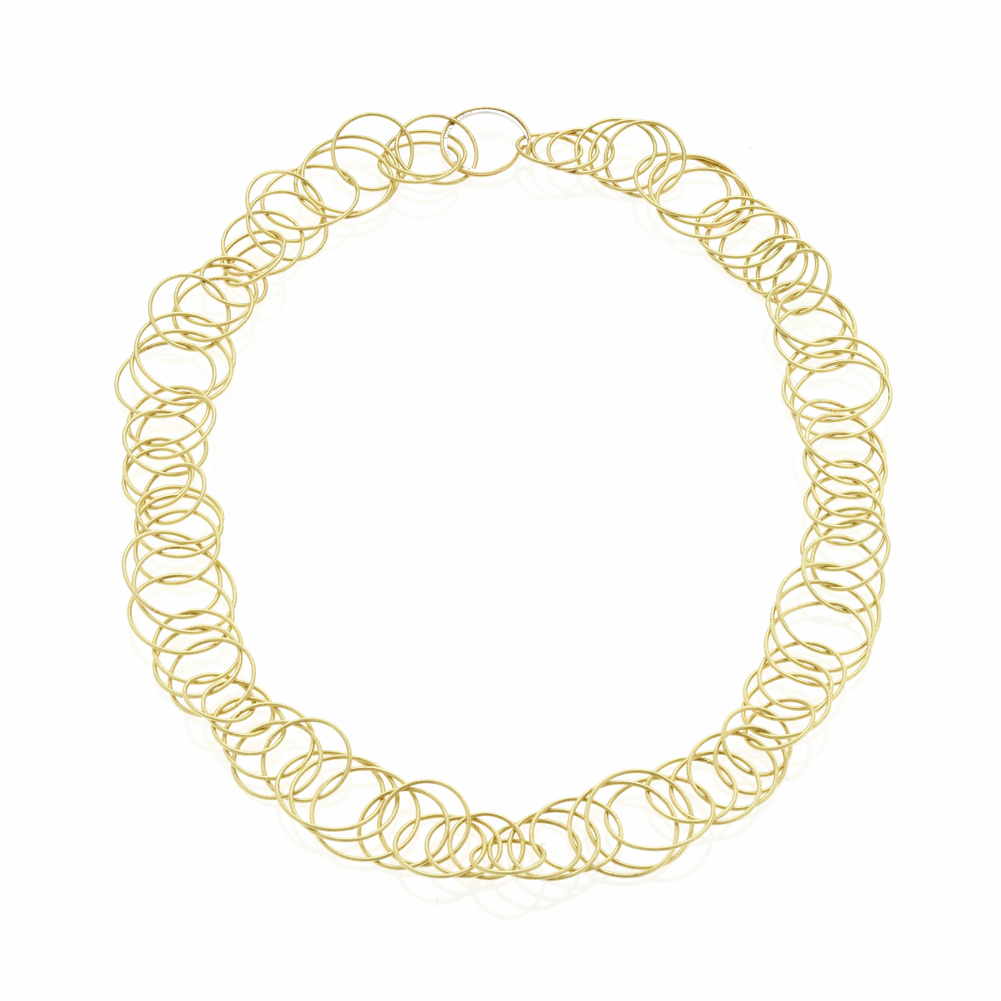 Buccellati Hawaii Gold Triple Link Necklace