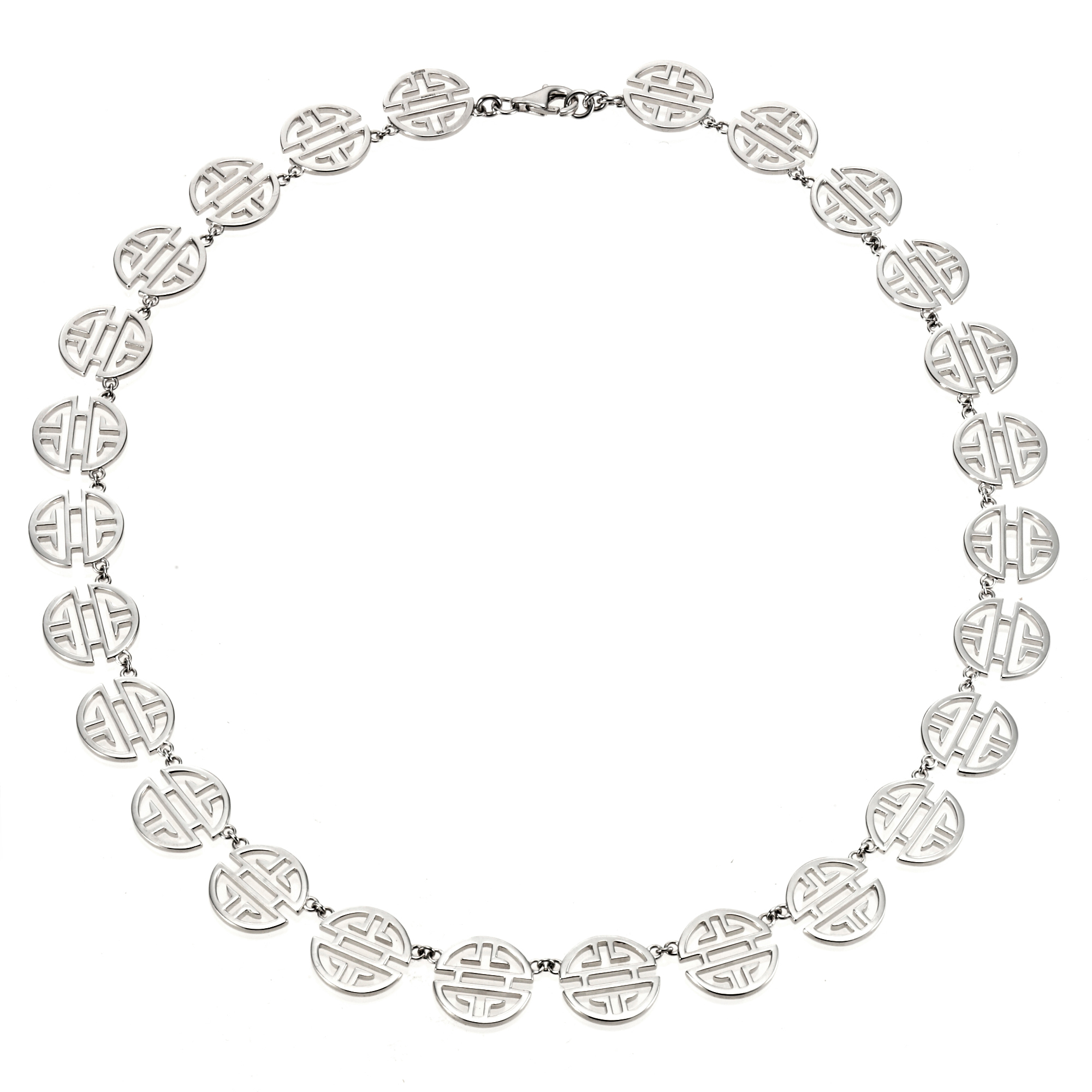 Gump's Silver Shou Link Necklace