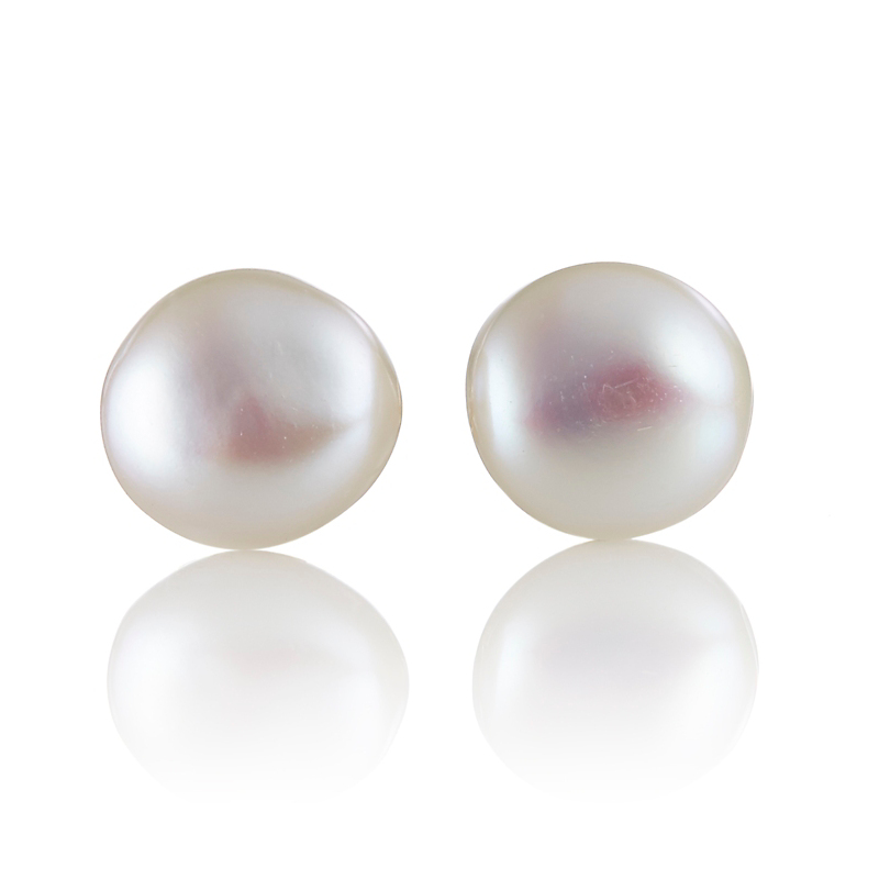 Gump's Small White Baroque Pearl Stud Earrings