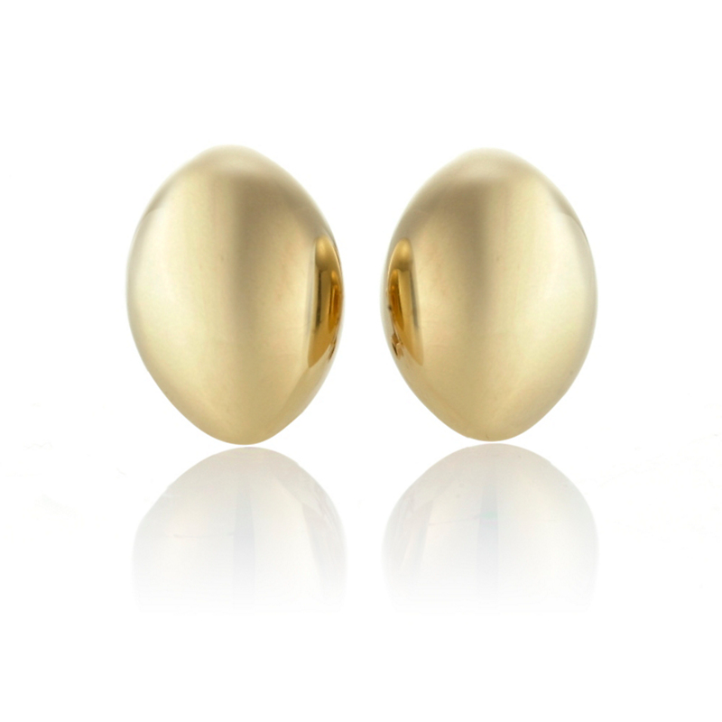 Polished Gold Almond Earrings