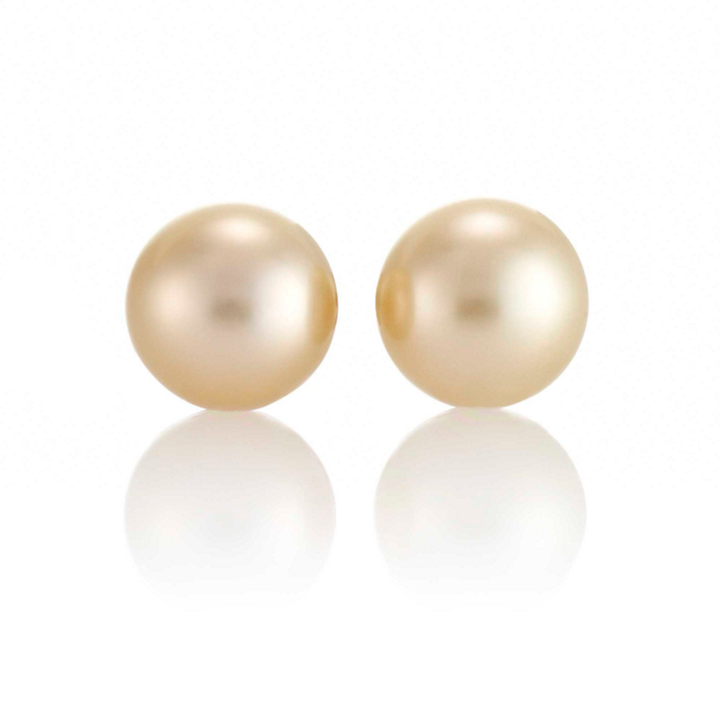 Gump's Golden South Sea 8.5mm Pearl Earrings