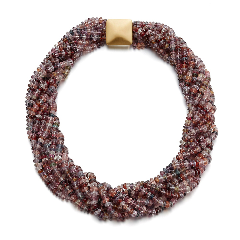 Gump's Nine-Strand Multicolor Spinel Twist Necklace
