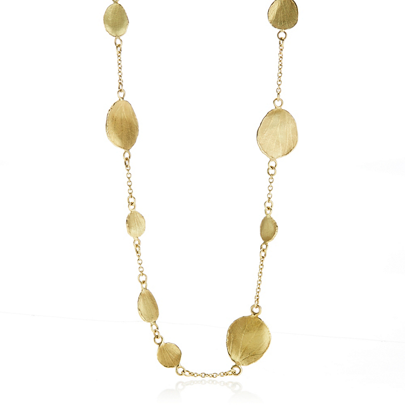 Barbara Heinrich Gold Multi Petal Necklace