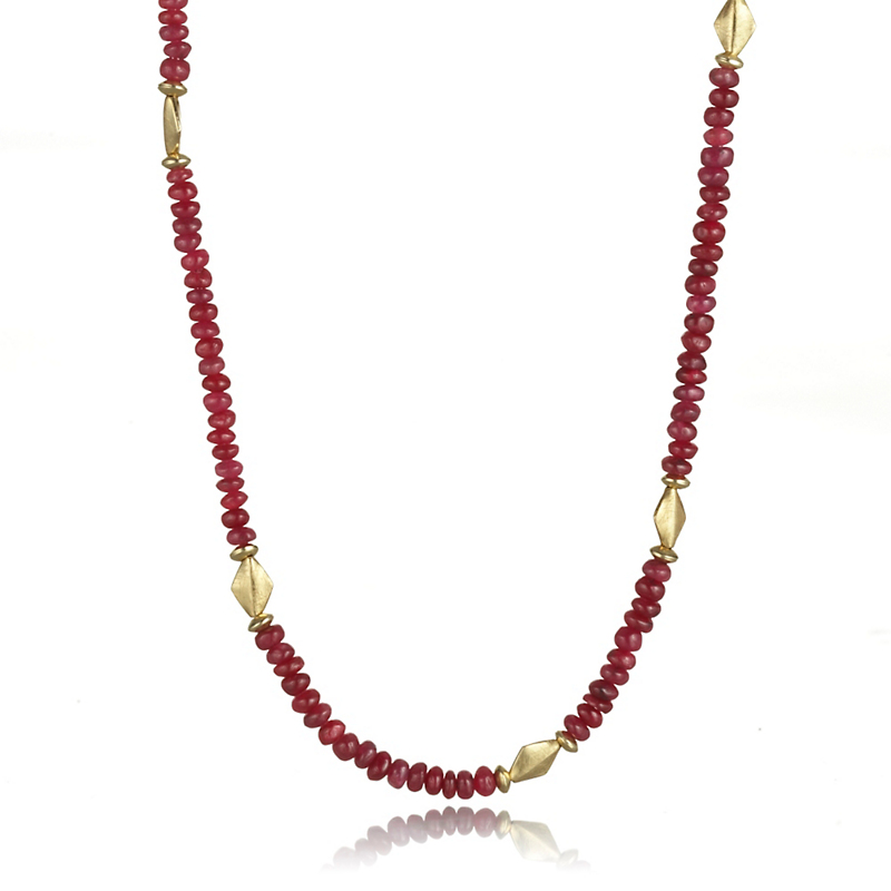 Barbara Heinrich Petite Ruby Bead Necklace