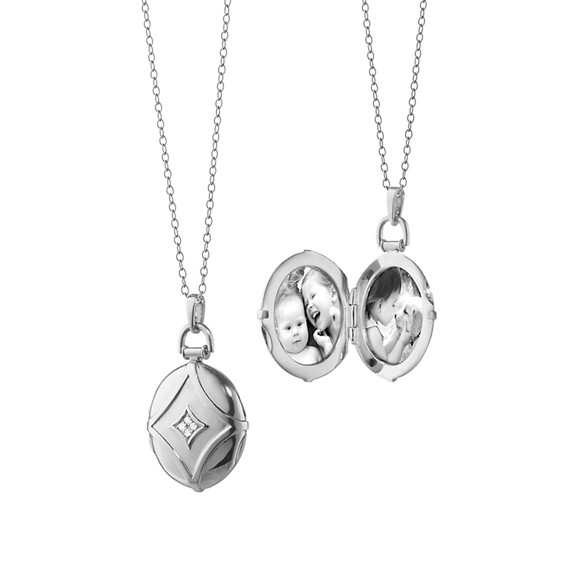 Monica Rich Kosann Geometric Diamond Locket