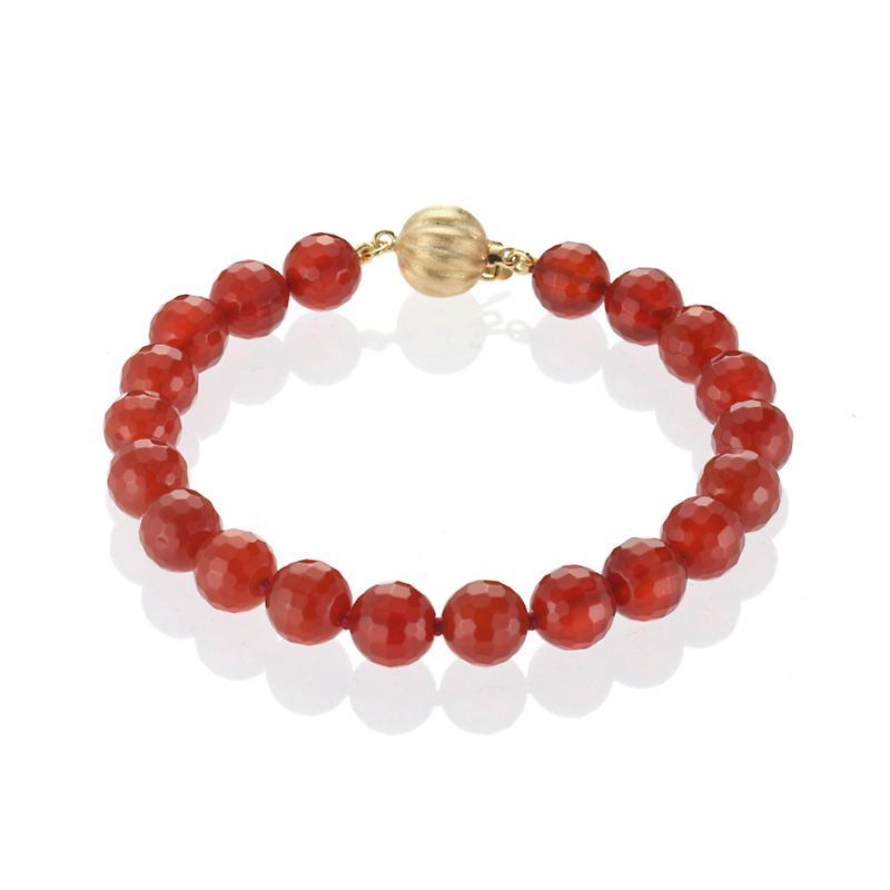 Gump's Faceted Carnelian & Gold Bracelet