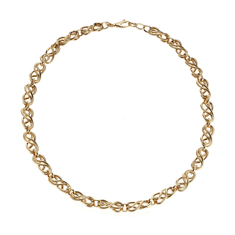 Infinity Gold Link Necklace