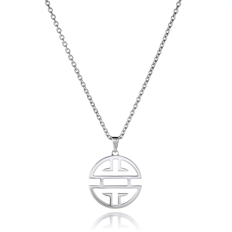 Gump's Shou Sterling Silver Pendant Necklace With Chain