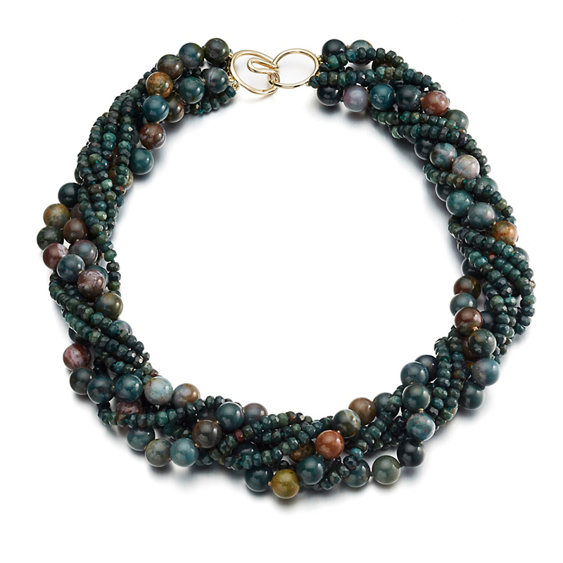Gump's Six-Strand Bloodstone Twist Necklace
