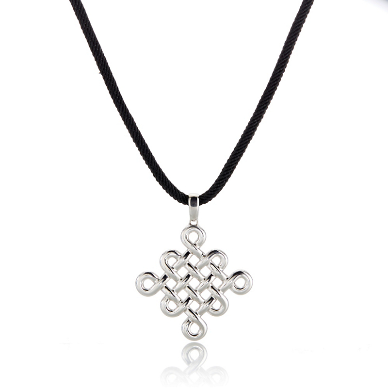 Gump's Sterling Silver Endless Knot Necklace