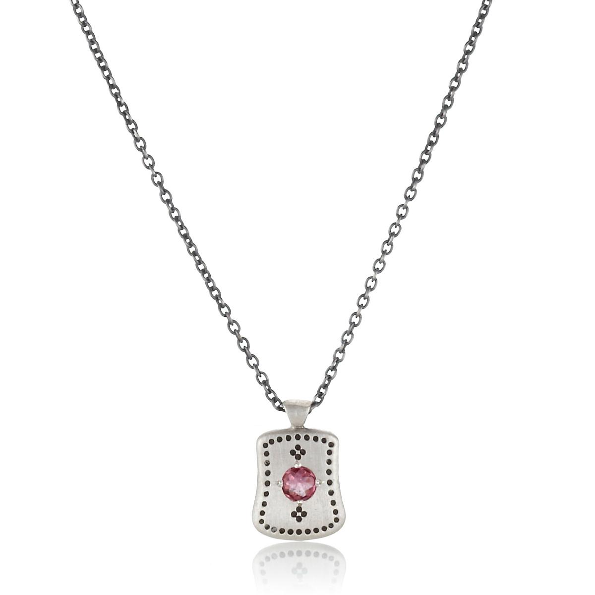 adel chefridi pink tourmaline dotted silver pendant. Black Bedroom Furniture Sets. Home Design Ideas