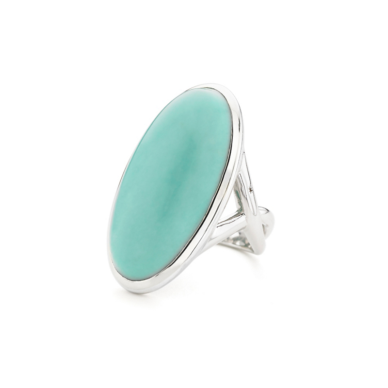 Elizabeth Showers Oval Turquoise Silver Ring