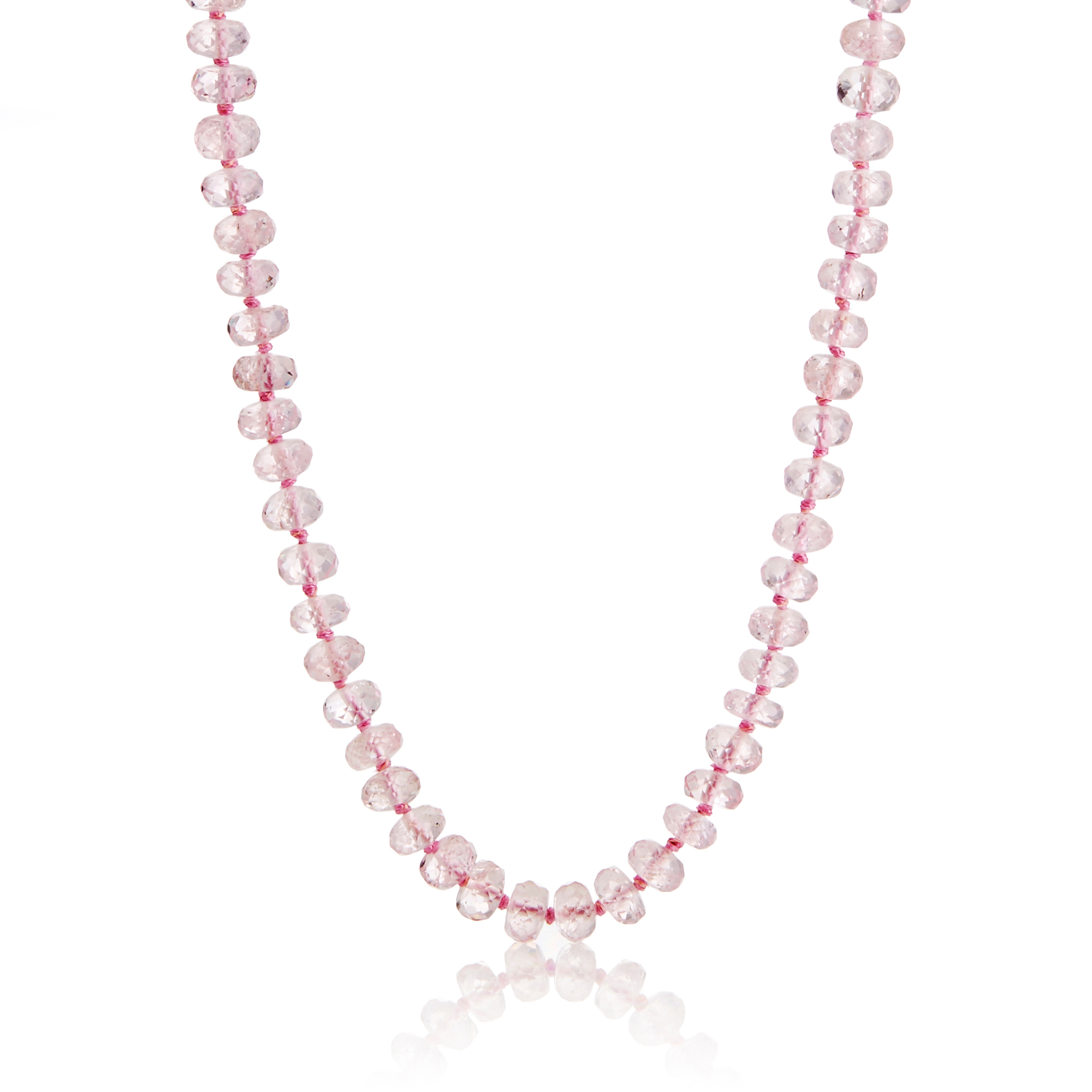 Gump's Faceted Morganite Rondelle Necklace
