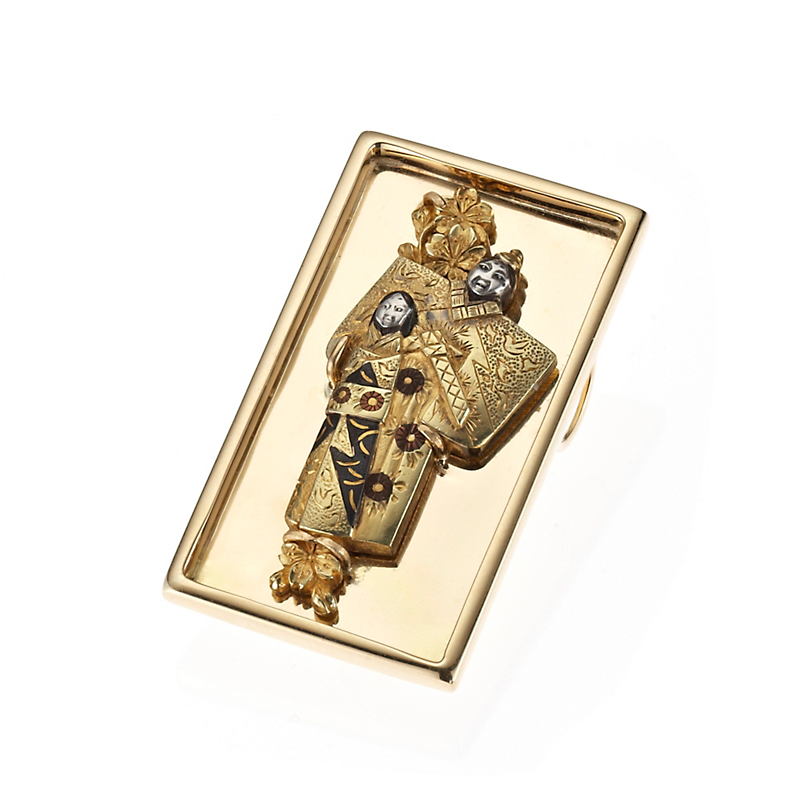 Gump's Antique Tachibina Brooch