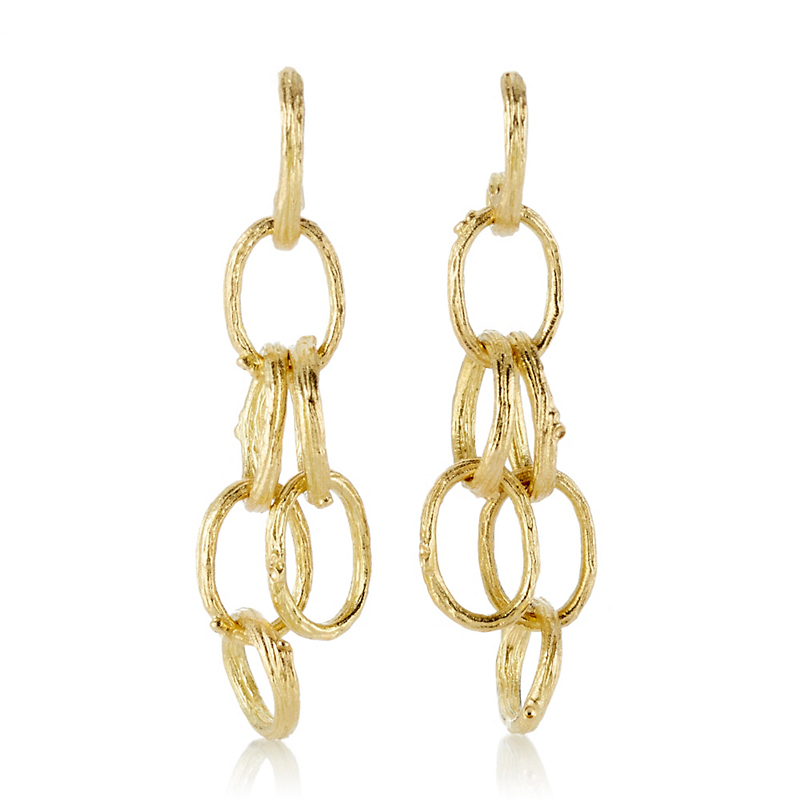 Aaron Henry Gold Open Branch Earrings