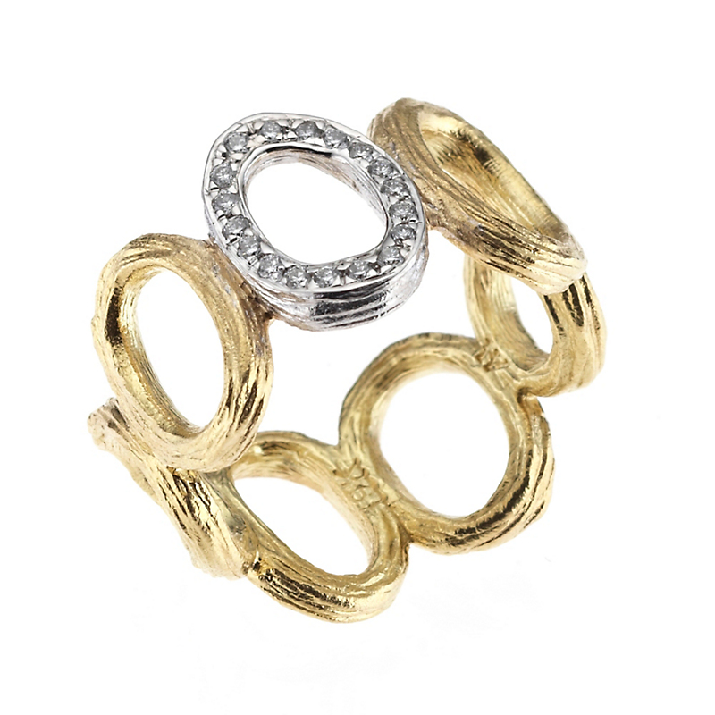 Aaron Henry Olive Branch Oval & Diamond Accent Ring