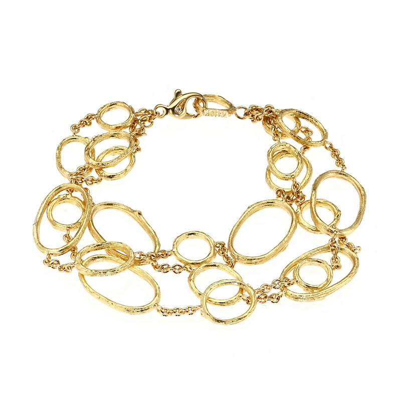 Aaron Henry Three Row Olive Branch Oval Link Bracelet