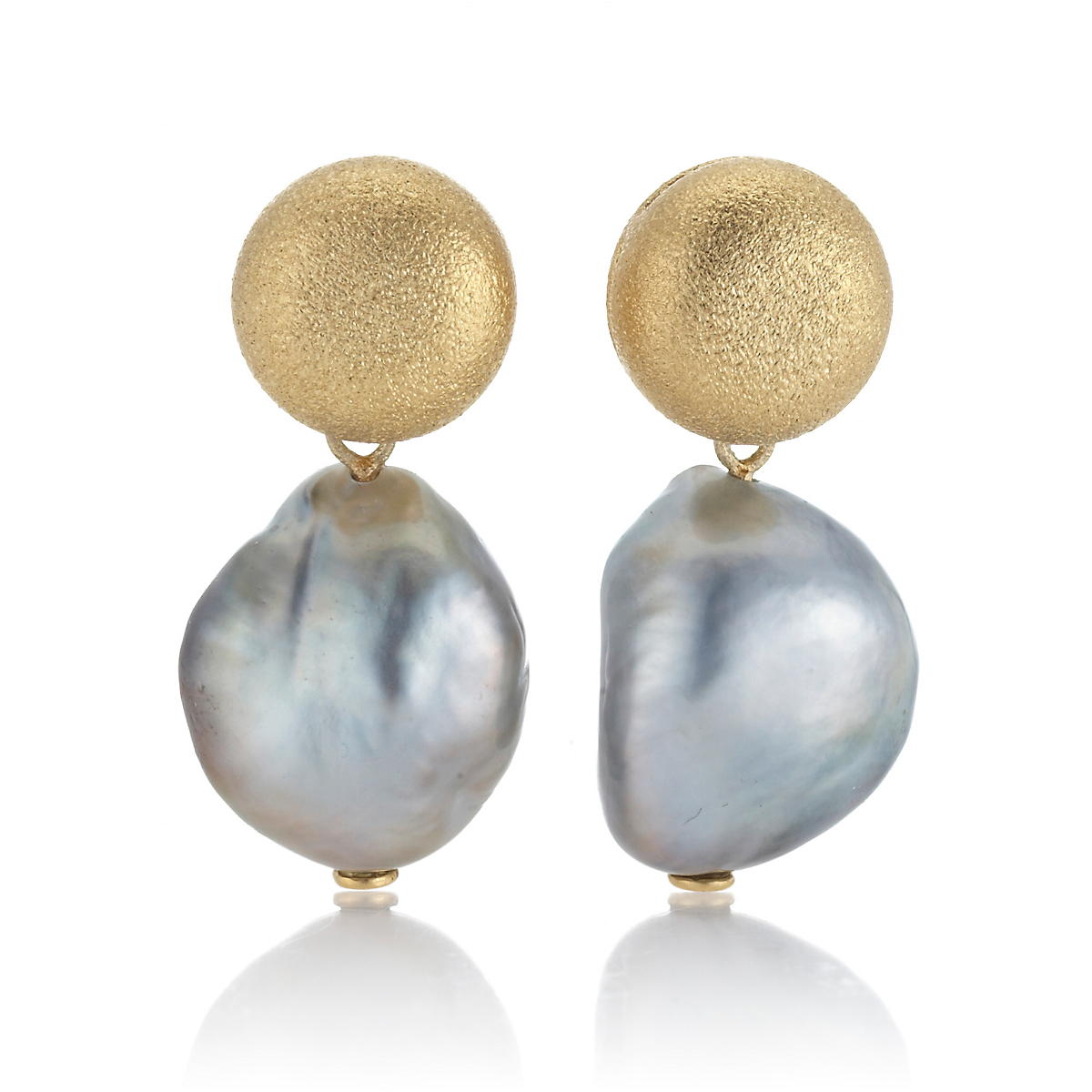 Aaron Henry Aspen Baroque Tahitian Pearl Earrings