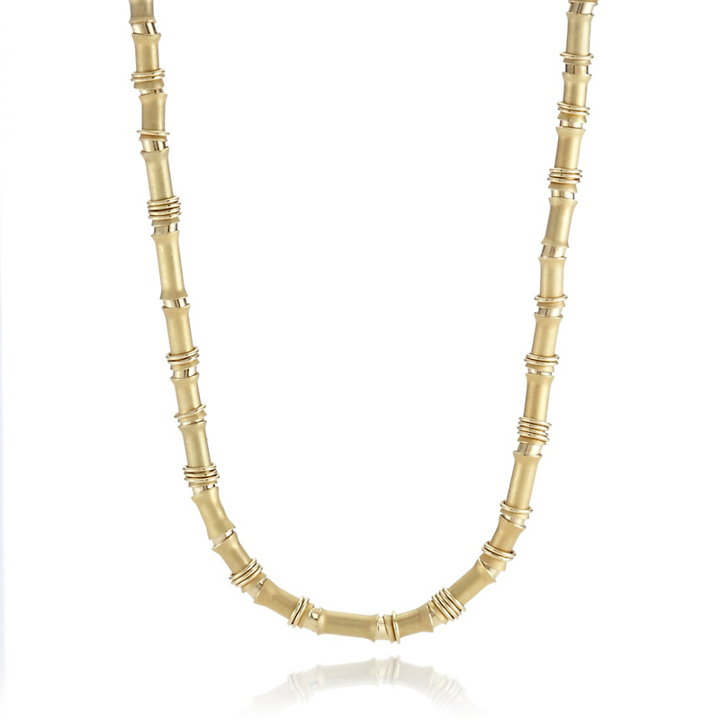 Barbara Heinrich Gold Tube Link Necklace