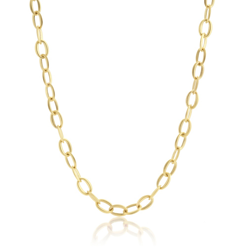 Gold Link Necklace, 20 inches