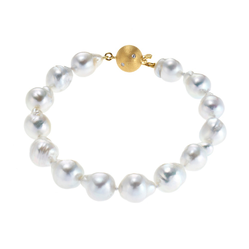 Gump's White Baroque South Sea Pearl Bracelet