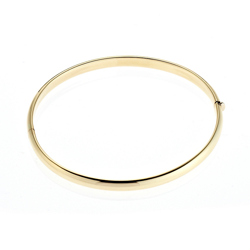 Thin Gold Hinged Bangle