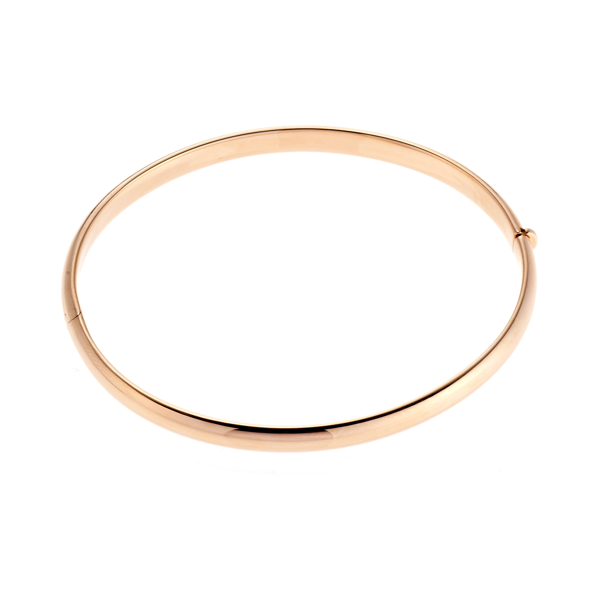 Thin Rose Gold Hinged Bangle