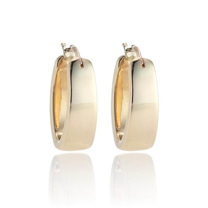 Small Polished Flat Hoop Earrings