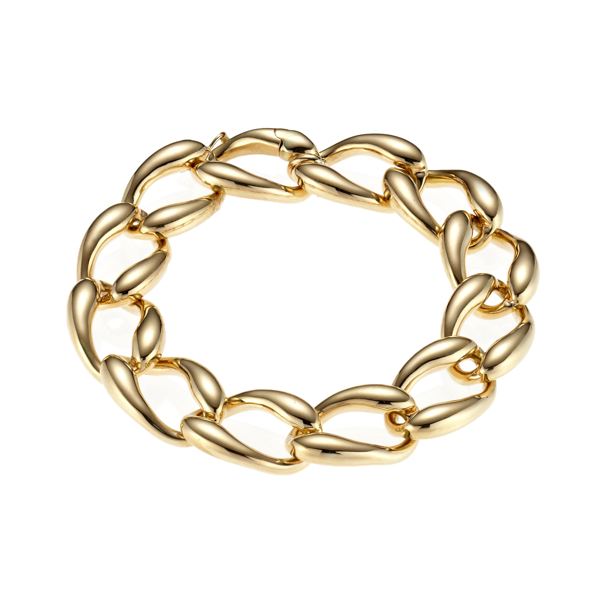 Polished Curb Link Bracelet