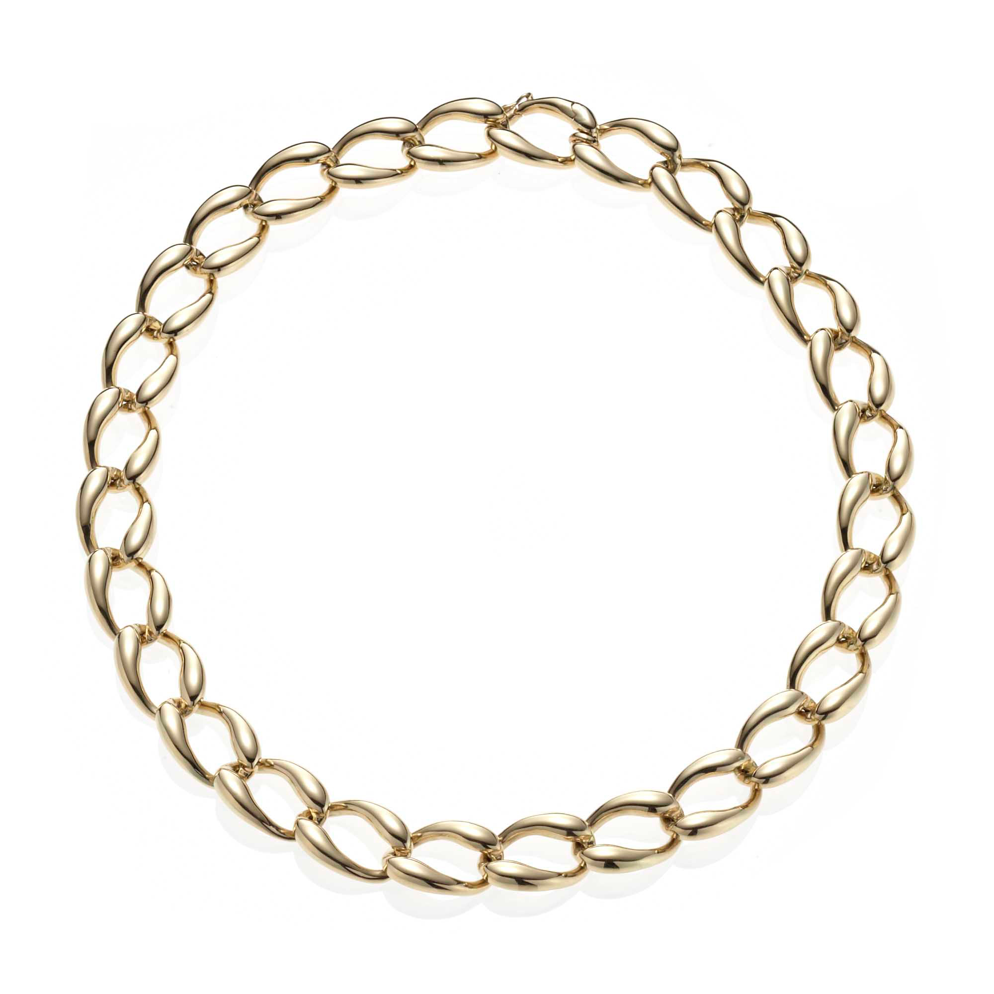 Polished Curb Link Necklace