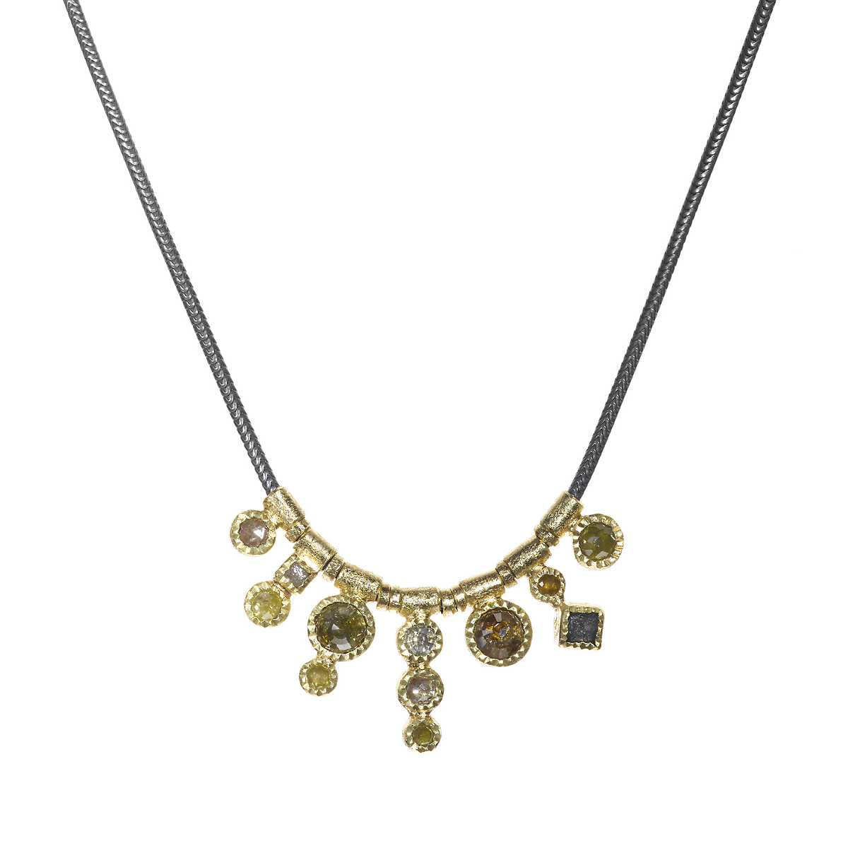 Todd Reed Autumn Diamond Link Necklace