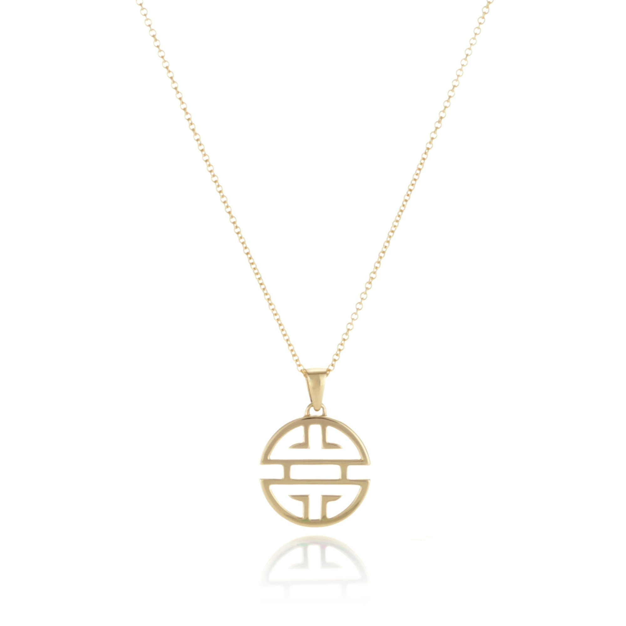 Gump's Shou Gold Small Pendant Necklace