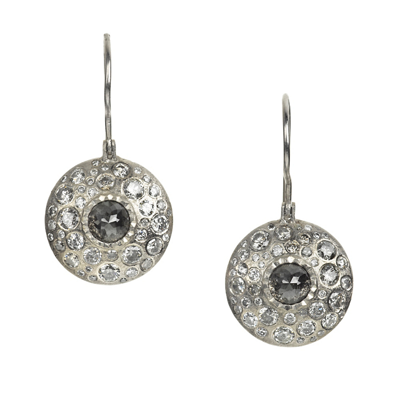 Todd Reed Black & White Diamond Drop Earrings