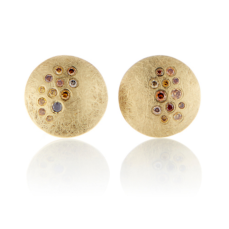 Todd Reed Autumn Diamond Round Stud Earrings