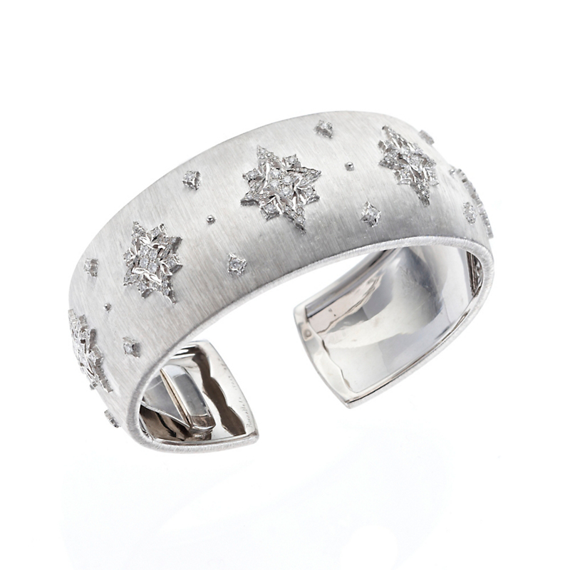 Buccellati White Gold & Diamond Dream Cuff