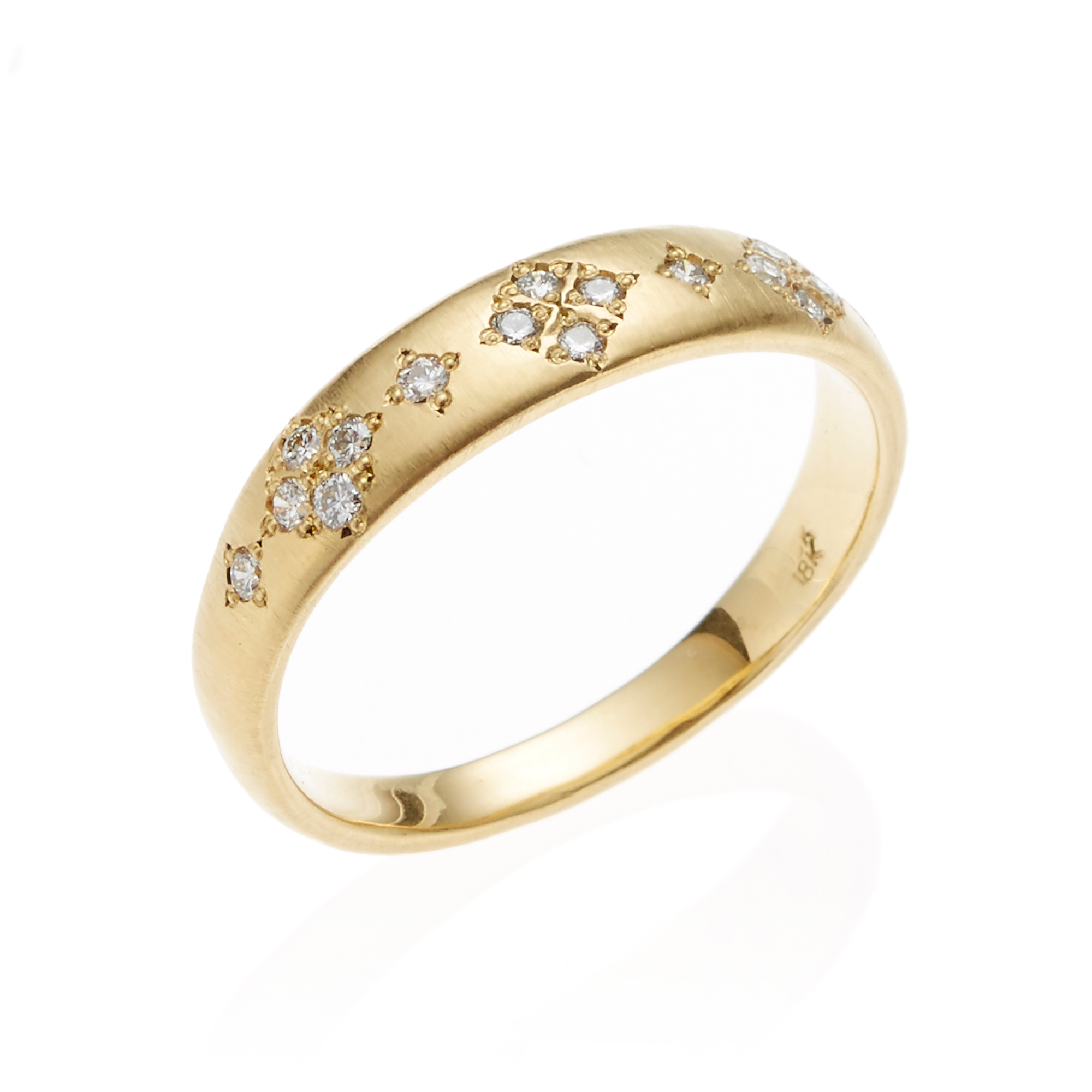 Adel Chefridi Diamond Memories Tapered Ring
