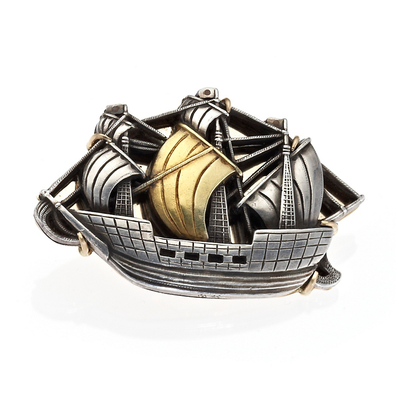 Gump's Antique Japanese Ship Brooch
