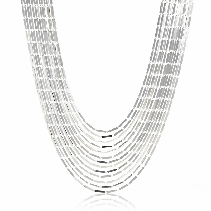 Georg Jensen Aria Layered Sterling Silver Necklace