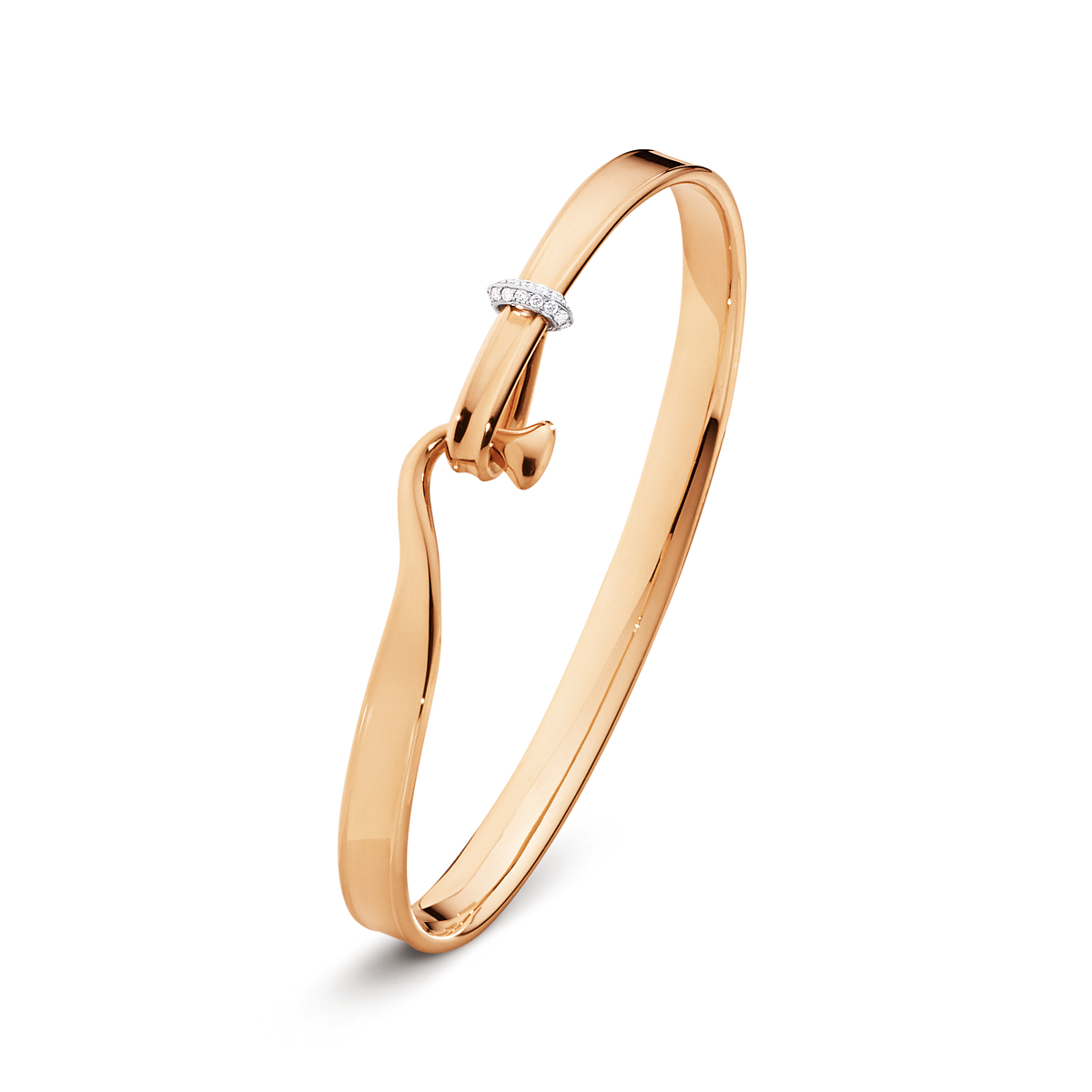 Georg Jensen Vivianna Rose Gold & Diamond Bangle
