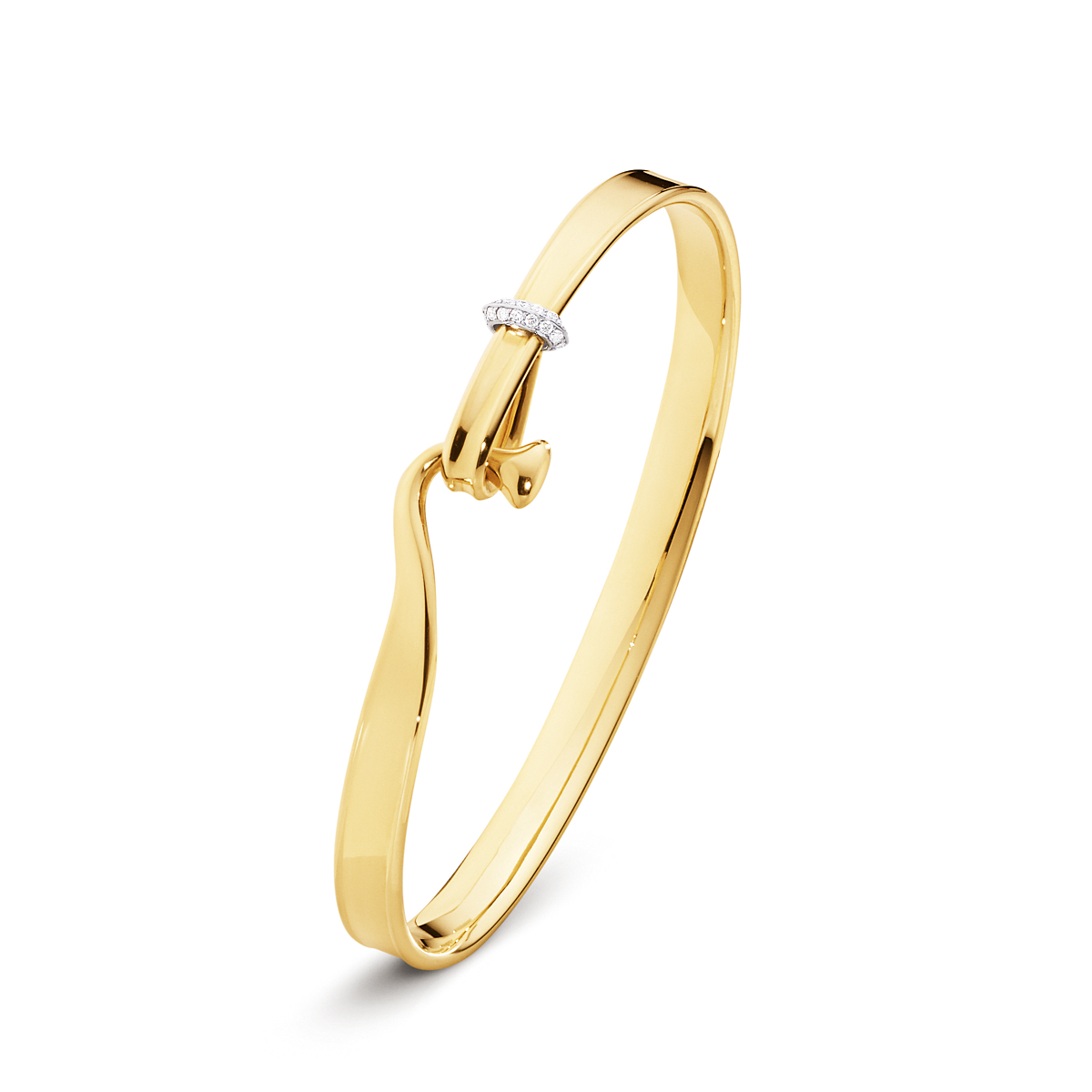 Georg Jensen Vivianna Yellow Gold & Diamond Bangle