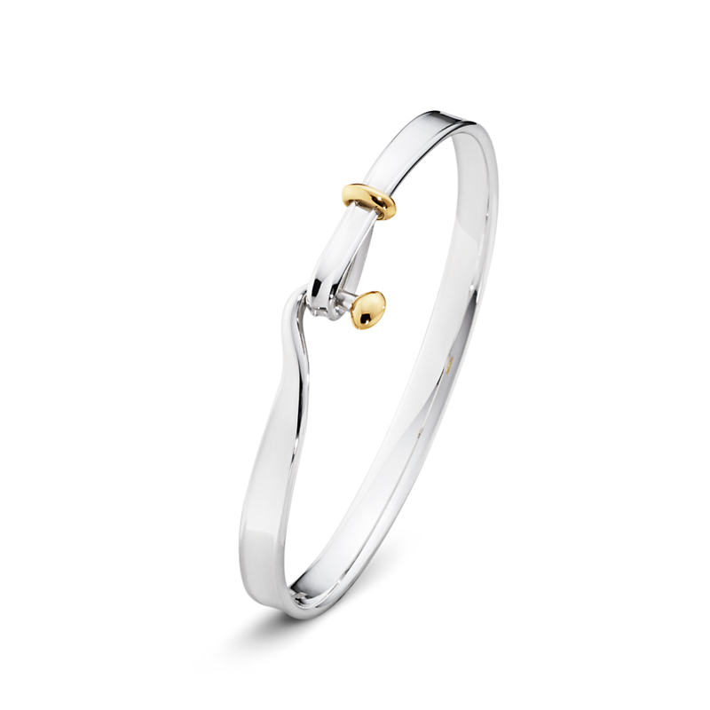 Georg Jensen Vivianna Silver & Gold Bangle