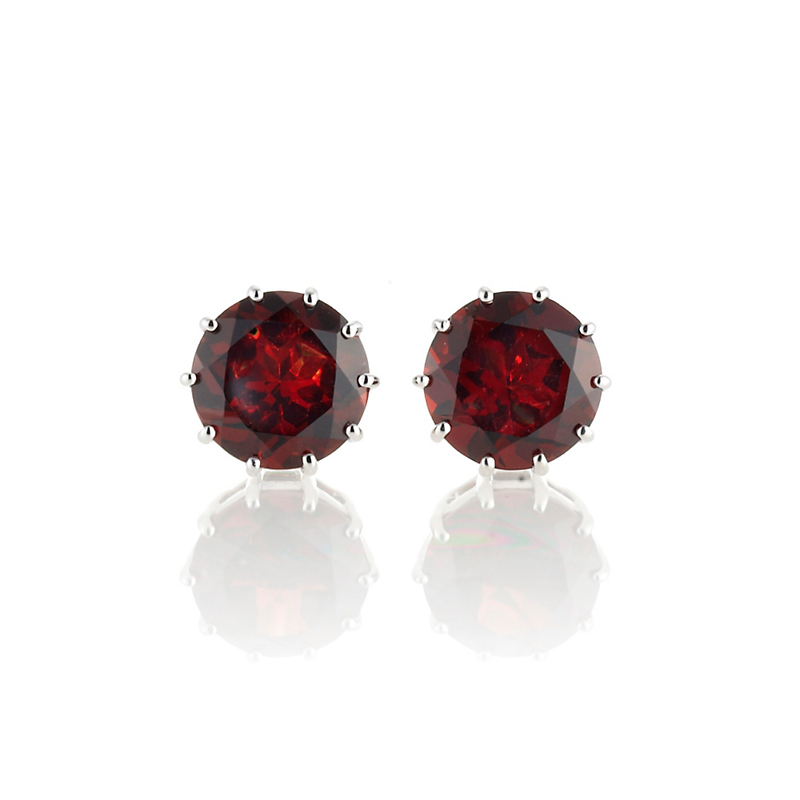 Gump's Garnet Round Stud Earrings