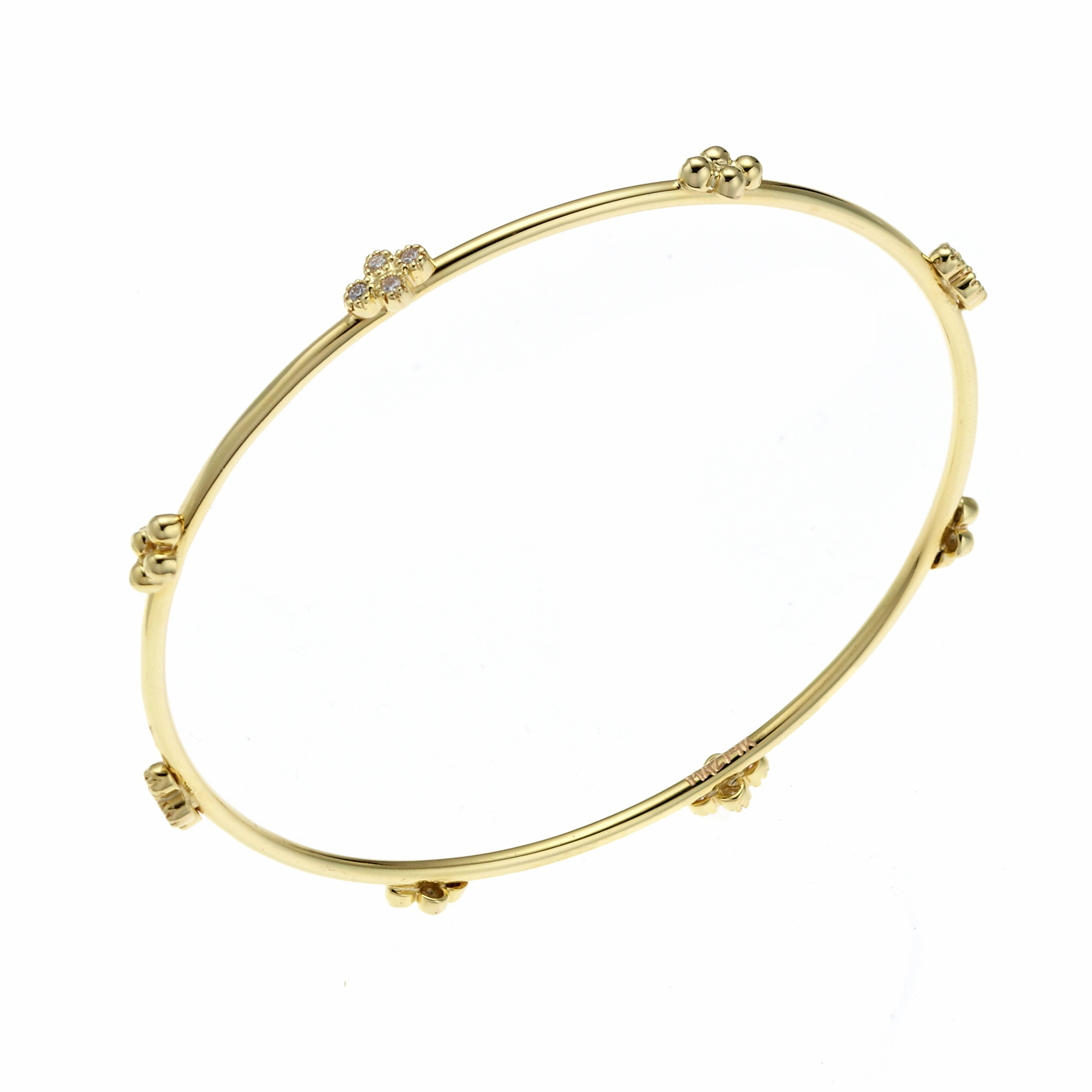 Diamond Capri Thin Round Bangle
