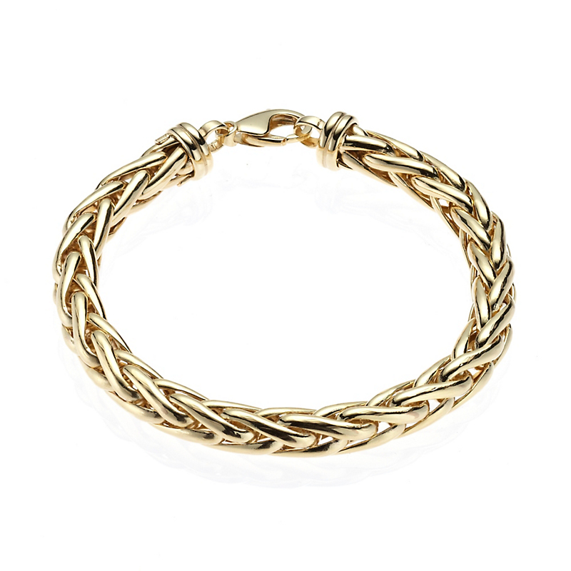 Wheat Chain Gold Bracelet, Large