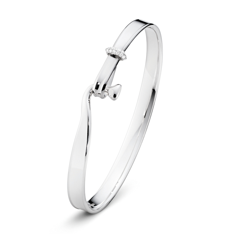Georg Jensen Vivianna Silver & Diamond Bangle