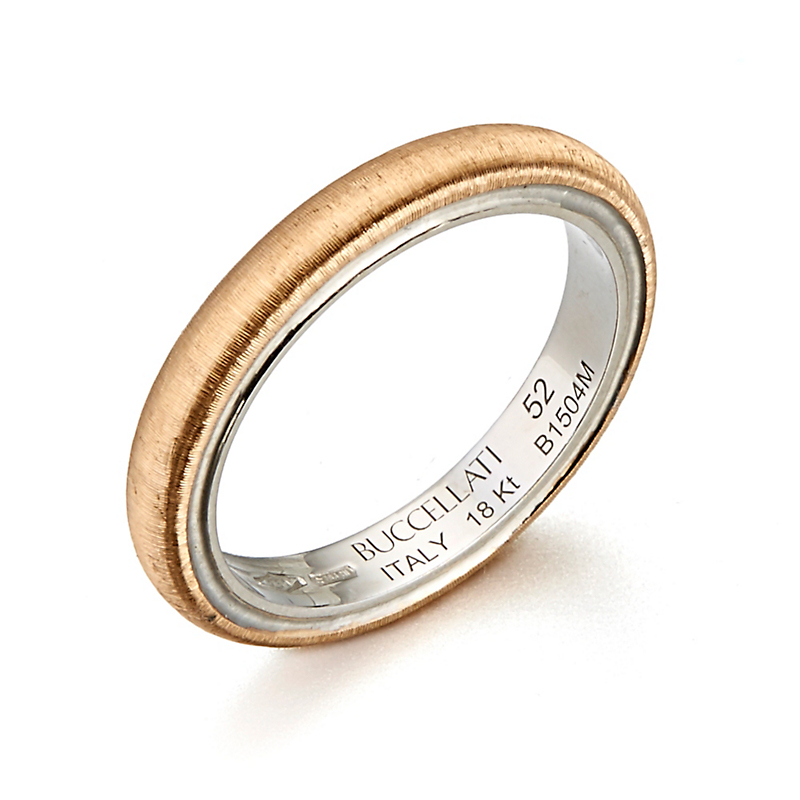 Buccellati Rigato Rose Gold Band Ring