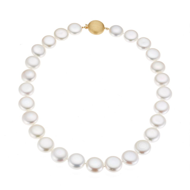 Gump's Graduated Coin Freshwater Pearl Necklace