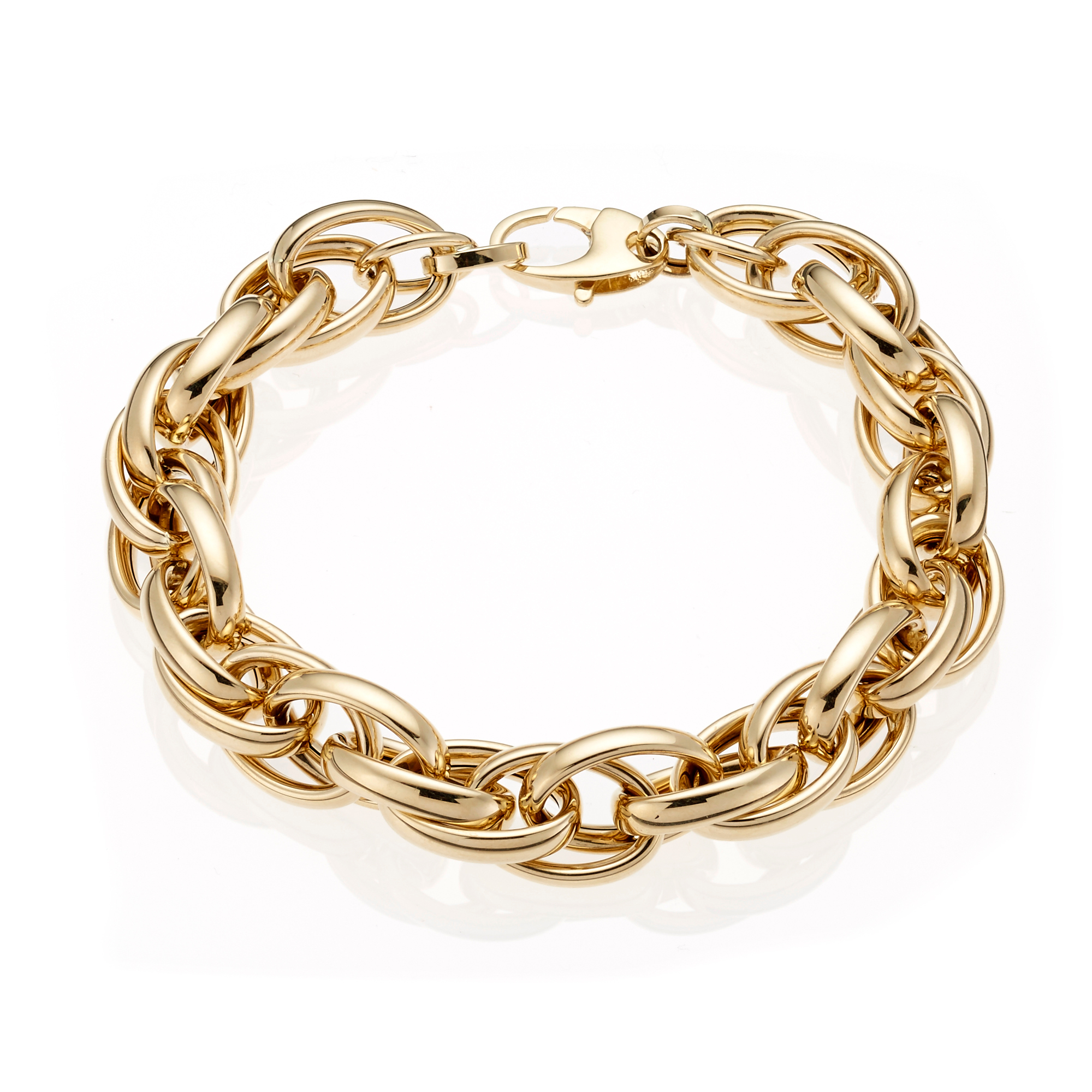 Gold Twisted Oval Link Bracelet