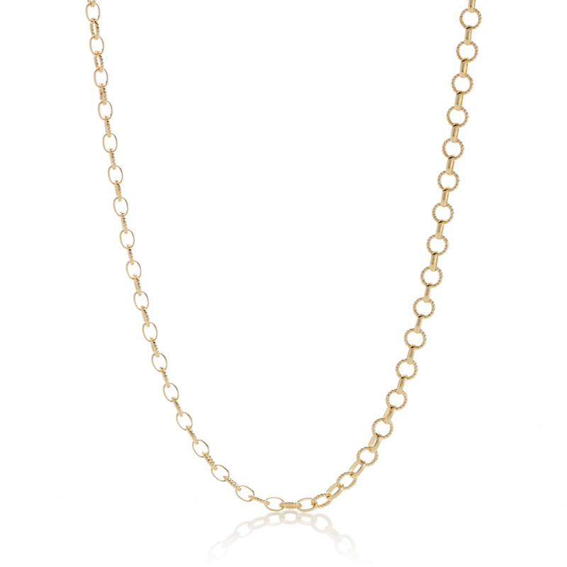 Gold Rolo Link Chain, 3.2mm