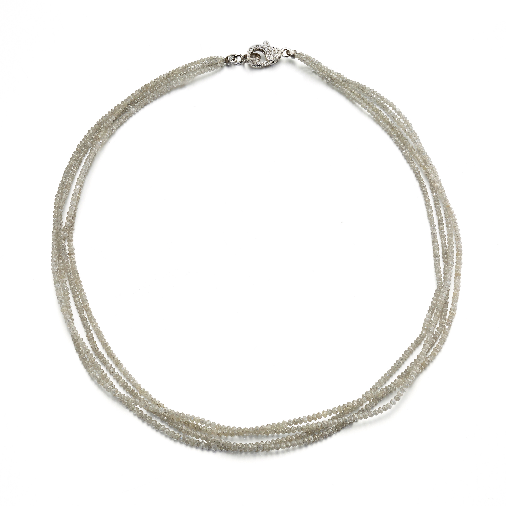 Gump's Four-Strand Faceted Gray Diamond Necklace